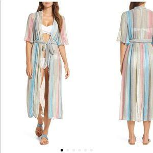 Elan Tie Front Coverup Dress Size S